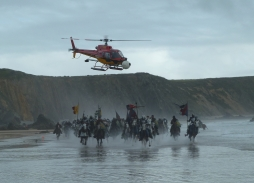 Helicopter Aerial Filming in Pembrokeshire for Snow White & The Huntsman using Eclipse XL HD aerial camera