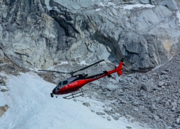 Everest Base Camp Aerial Rescue captured using Helicopter Aerial Filming