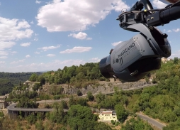 All The Money In The World helicopter aerial filming cinematography over Calcata Italy