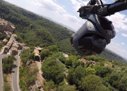 All The Money In The World Aerial Filming Over Calcata Italy