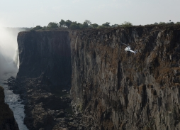Helicopter Aerial Filming in The Gorge at Victoria Falls for Black Panther using Mini Eclipse aerial camera