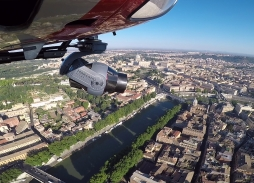 Aerial filming All The Money In The World over Rome with Helicopter aerial filming Mini Eclipse