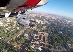 Helicopter aerial filming with Mini Eclipse in Rome for All The Money in The World