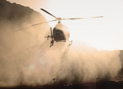 Helicopter Aerial Filming for The Martian in Wadi Rum desert using Shotover K1 | Marzano Films