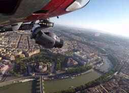 Helicopter Aerial Filming in Rome over Castel Sant'Angelo for All The Money In The World with Mini Eclipse