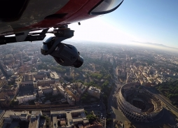 Helicopter Aerial Filming in Rome over The Colosseum for All The Money In The World with Mini Eclipse