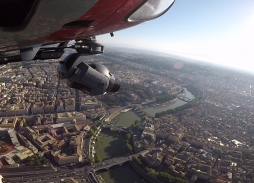 Helicopter Aerial Filming in Rome over River Tiberis for All The Money In The World with Mini Eclipse