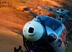 Aerial filming Black Panther in South Africa with Helicopter aerial filming camera Eclipse XLHD